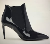 Ralph Lauren Black Patent Leather Booties McLean