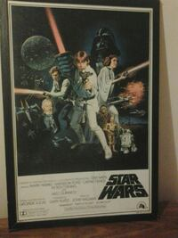 Star Wars poster with black frame