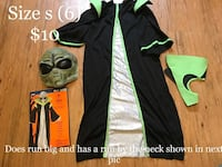Boys size s 6-8 alien Halloween costume Jamestown, 14701
