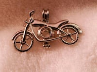 Motorcycle Sliver Plated Pearl Pendant  New Castle, 16101