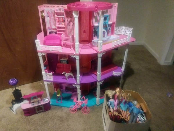 Used 3 Story Used Mattel Barbie Dream House For Sale In New Jersey