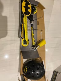 folding scooter and helmet