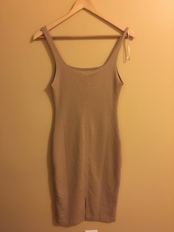 Women's golden/beige sleeveless dress