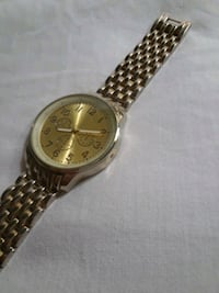 round gold-colored analog watch with link bracelet Orlando, 32819
