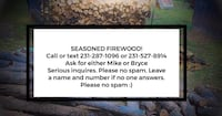 Firewood For Sale! Stanwood, 49346