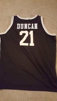 black Tim Duncan 21 San Antonio Spurs tank top jersey