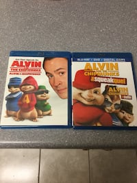Alvin and The Chipmunks and Alvin and The Chipmunks The Squeakquel Blu-Rays Edmonton, T5H