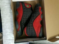 pair of red Air Jordan 13's in box Tysons, 22182