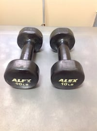 2 x 10 lb Vinyl Steel Dumbbell Weights Fitness Training Bolton, L7E 1X7
