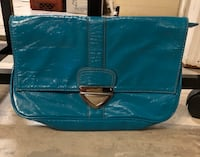 Teal/turquoise large clutch with silver clasp Hattiesburg