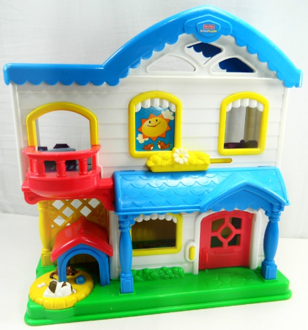 Used Doll Play House With Little People Dolls Aurora For Sale In