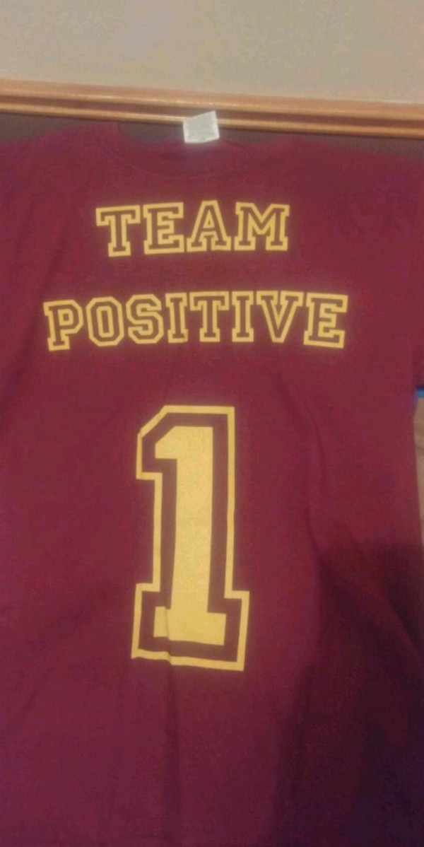 05b40b55b992 Used Team Positive red and yellow t-shirt for sale in Cedar Rapids - letgo