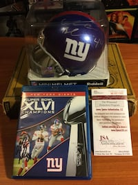 2012 Super Bowl Champions Signed Mini Helmet And S 2058 mi
