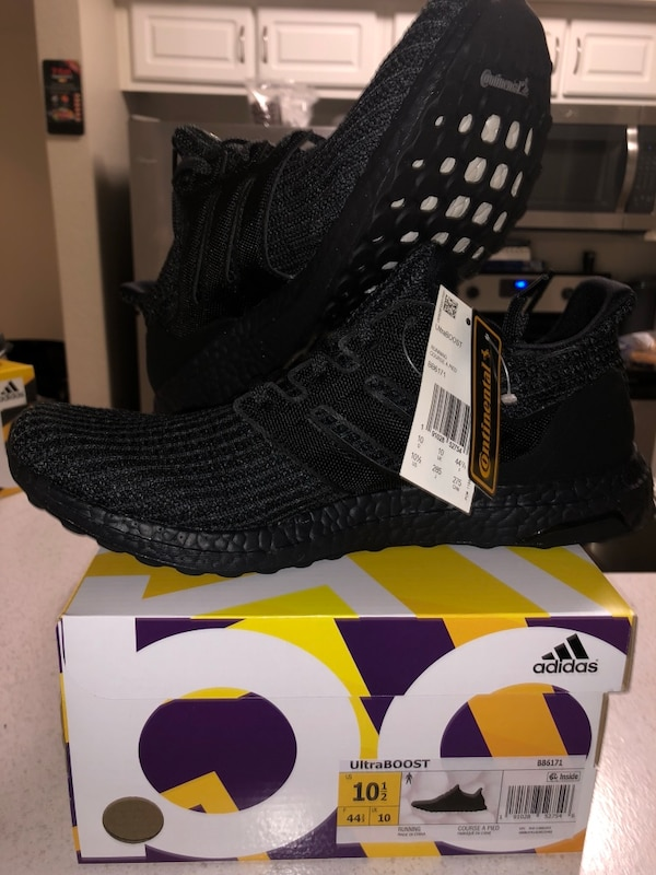 be184aa0cba Used Adidas Ultra Boost 4.0 Triple Black BB6171 LIMITED 10.5 for ...