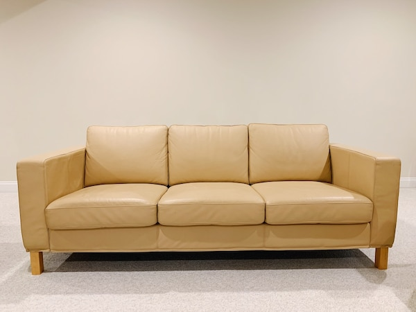 Beige Leather Sofas 36829704-0a83-4999-aa60-853534a40848