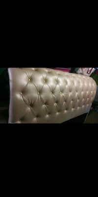 tufted white leather tufted bed headboard Bakersfield, 93311
