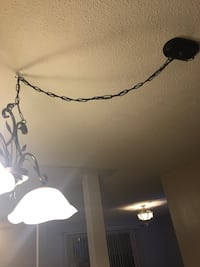 White and black uplight chandelier obo   Serious inquires only please   Hamilton, L8J 1G7