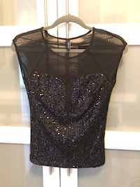 Marciano Sequin/Mesh Top. Size small.  Vaughan