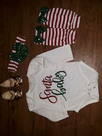 Baby girl Christmas outfit size 6 to 9 months Los Angeles, 91402