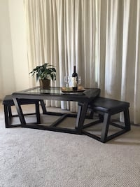 Ashley Cocktail Coffee Table with Stools