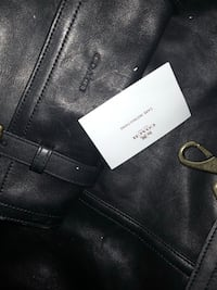 black Coach leather bag