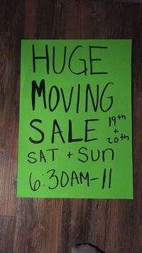 HUGE MOVING SALE Bakersfield, 93301