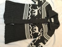 Grey and white knitted cozy sweater Winnipeg