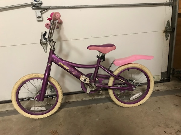 """16"""" Girls Sparrow Performance Bicycle."""