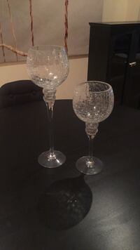 Chrystal glass candle holders Vaughan, L4H 2G3