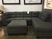 Fabric sectional. Reverse Option Available. Ottoman $250 extra. Brand new.  Irving