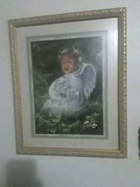 Black angel picture with frame 325 mi