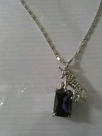 Unicorn necklace with purple Crystal Tucson, 85716