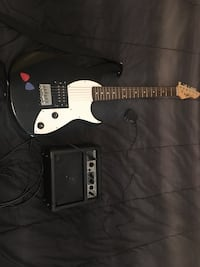 black and white electric guitar Williston