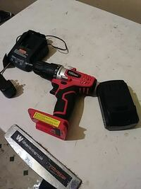 black and red Hyper Tough cordless power drill