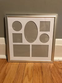 Silver collage picture frame, 7 openings