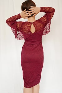 women's red long-sleeved dress Daly City, 94015