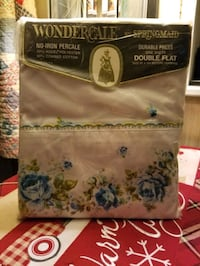 Vintage Wondercale by Springmaid double flat bed sheet..New Hagerstown, 21740