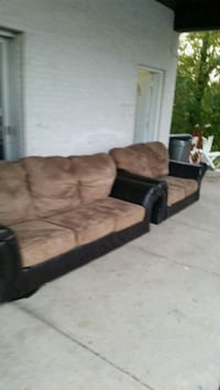 brown and black suede couch Longueuil, J4K 2W6