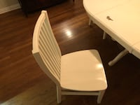 Pier 1 white table and 4 chair set. Dallas, 75201