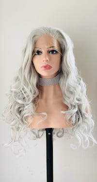 Gorgeous White Grey 13x3 Lace Front Wig
