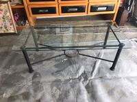 Beautiful high end glass and steel coffee table  Edmonton, T5M 0S5