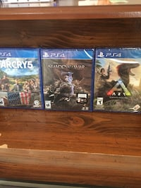 3 unopened ps4 games Farcry 5 , Shadows of war and ARK 60 dollars each FIRM  Edmonton, T5T 3Z2