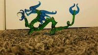 Hand made glass dragon, colored blue & green Escondido, 92026