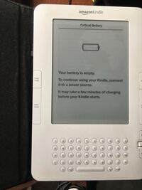 White amazon kindle e-book reader