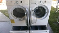 Lg tromm front load washer and gas dryer set with  Temecula