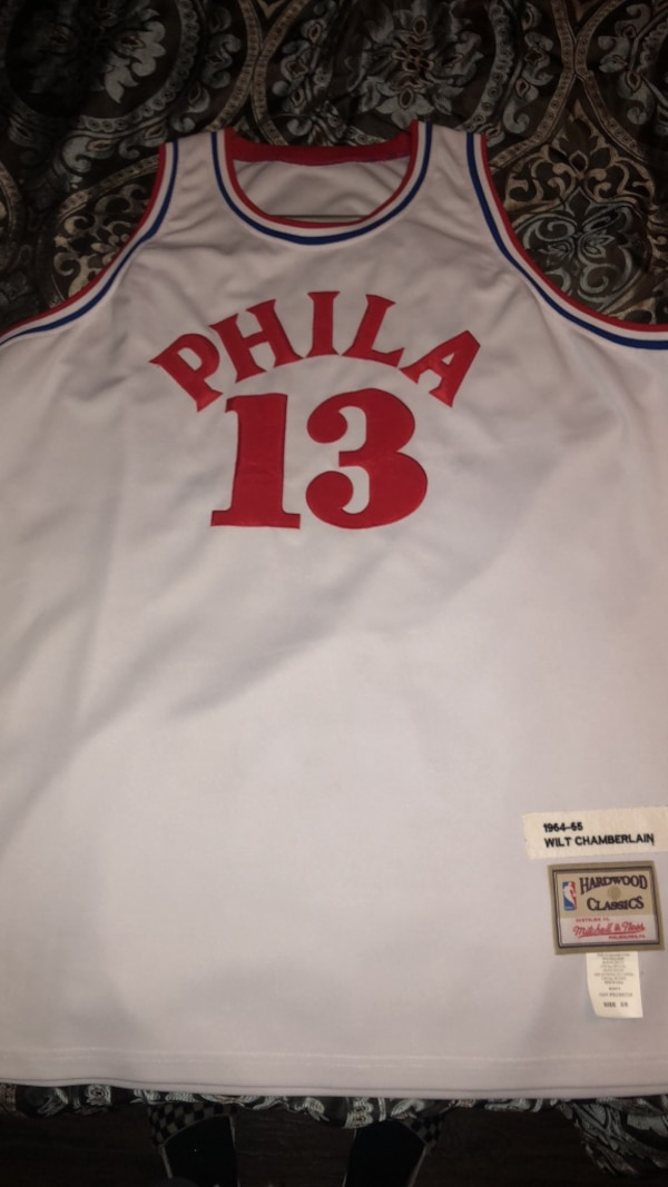 sports shoes f637a a7020 Mitchell & Ness Wilt Chamberlain Throwback Jersey