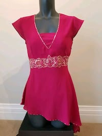 Fuchsia Pink Angled Indian Blouse Vaughan, L4L 8Y6