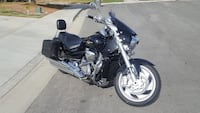 black and grey touring motorcycle