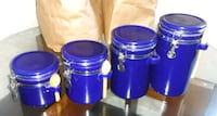 Ceramic air tight Canister with spoons