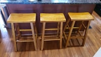 Three wooden stools  Woodbridge, 22191